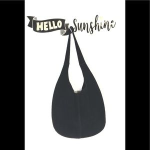 Handbags - Black Suede Hobo Handbag